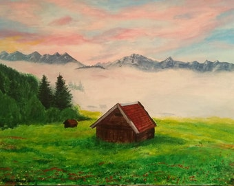 """Original image """"Morning in the Alps"""" Gallery quality"""