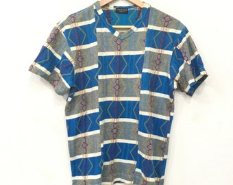 Rare!! COMME Des Garcons Tee Tshirt Knitwear Cotton Patch Multicolour Rei Kawakubo Junya Watanabe Made In Japan