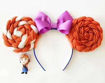 Frozen Anna Minnie Mouse Ears | Mickey Ears | Minnie Ears | Frozen Ears | Elsa and Anna Ears | Princess Hair Headband | Frozen