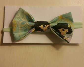 Disney Princess Jasmine from Aladdin fabric bow headband