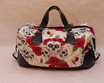 skulls hand bag large