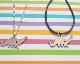 Dinosaur necklace, Diplodocus necklace, Dinosaur pendant, Pendant necklace, Dinosaur, Diplodocus, Jurassic, Dinosaur jewellery