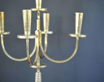 Tommi Parzinger Candelabra for Dorlyn, five candle, candelabra, large, midcentury, candle holder