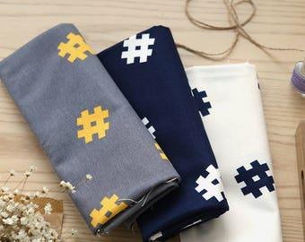 Sharp pattern oxford cotton- Navy,Gray,White-oxford fabric, sharp pattern oxford, sharp oxford,oxford cotton