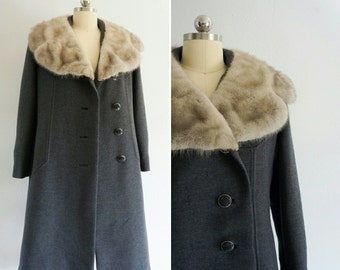 1960s Windermere wool mink coat