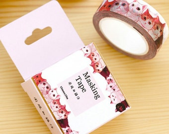 Cats Washi Tape Masking Tape Planner Stickers Scrapbooking Stickers