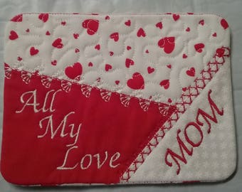 New Price Valentine Personlized Coasters / mug rugs
