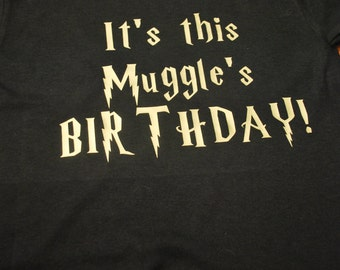 It's This Muggle's Birthday T-Shirt - Adult
