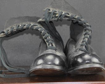 Edwardian Pair of Girl's Leather Boots