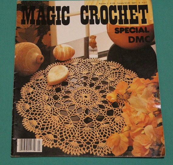 Crochet Magazines Usa : Magic Crochet Magazine Special DMC Issue #7~Printed in France~Vintage ...