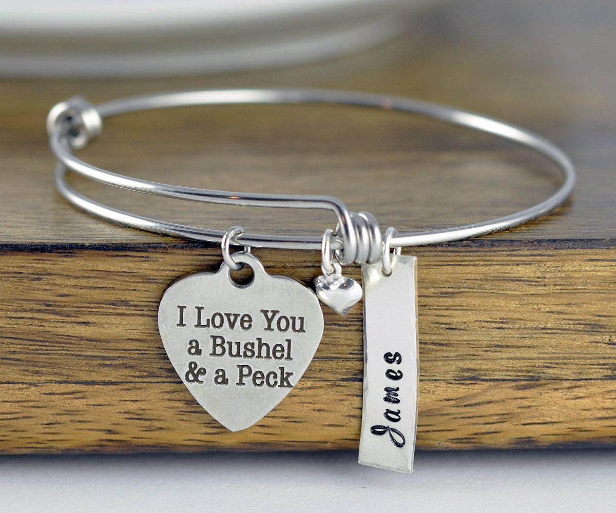 I Love You A Bushel And A Peck Necklace: I Love You A Bushel And A Peck, Personalized Jewelry