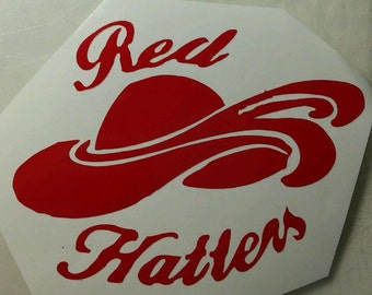 Red Hatters Society Vinyl Decal