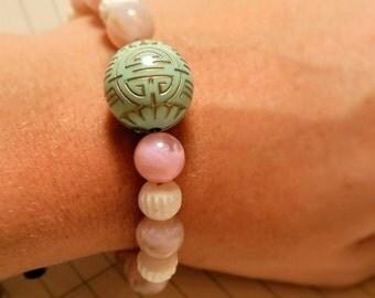Beads Bracelet Asia, rose, green