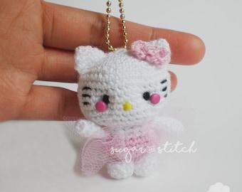 Ballerina Kitty - Crochet - Amigurumi - Crochet doll - Keychain - Plushies keychain
