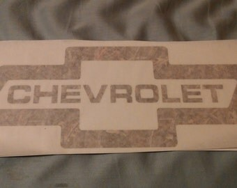 Camo Chevy bowtie logo decal Chevrolet in middle