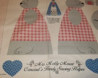 Molly Mouse Sewing Helper fabric