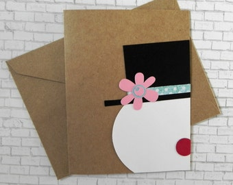 Frosty Christmas card, Christmas card set, Holiday card set, Christmas cards, Holiday cards, Handmade Christmas card