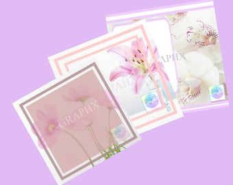 Social Media Templates-Social Media-Instagram-Add Text-Pink&White-Social Media Graphic-Graphic Image-Template-Digital Download