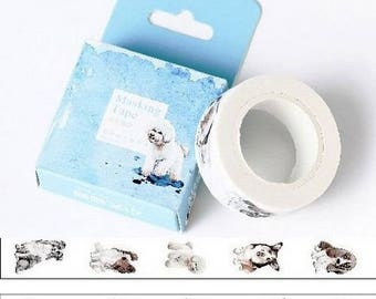 Washi Tape, Masking Tape, tape adhesive scrapbooking dog