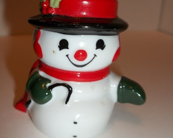 Vintage Snowman Salt OR Pepper Shaker