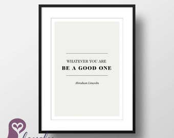 Abraham Lincoln Poster   Quote   Typography   Wall Art   Wall Decor   Home Decor   Prints   Poster   Digital Paper   Digital Download
