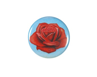 Surrealist Salvador Dalí Rose Pinback Button