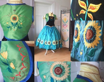 Frozen Fever Anna Commission Cosplay Birthday Dress