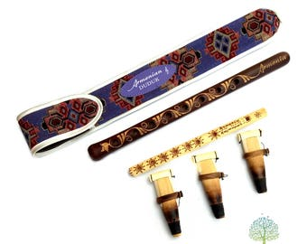 Professional beautiful DUDUK Armenian Oboe Balaban Woodwind Instrument Apricot Wood - Gift Armenian flute with Playing Instruction