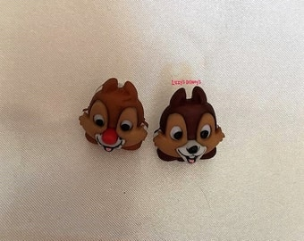 Chip and Dale head earrings