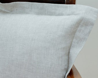 Linen pillow cover grey, decorative covers, throw pillows - 005 (size 16x16)