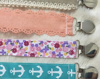 Pacifier Clips/Ribbon Paci Clips/Nuk Clips