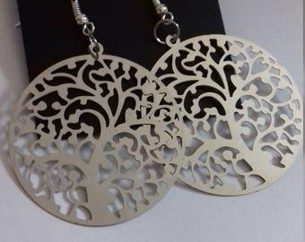 Sliver Tree of Life earrings