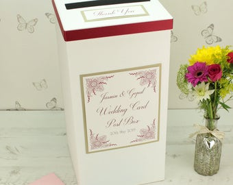 Personalised Indian Garden Wedding Post Box