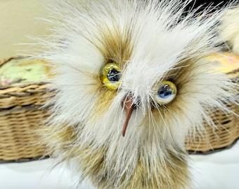 Stuffed Owl Toy Stuffed owl Plush Owl Toy Animal Plush Toy Kawaii Miniature Tiny Plush Owl Artificial fur Baby Gift Gift Owl Valentines Gift