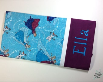 Disney Personalized Pillow ~ Elsa Embroidered Name Pillow case ~ Disney Cruise ~ Personalized Monogram ~ Handmade Frozen Pillowcase