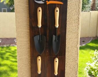 Garden Tool Holder & Sign