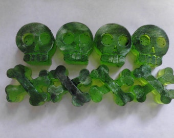 Death & Decay Skull and Crossbones Glycerin Soap. 8 Soaps.
