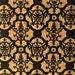 PortugaliaCork (USA Seller) - Cork Fabric - Natural w/ Black Printed Damask - Vegan, Eco-Friendy - PETA Approved Leather Alternative