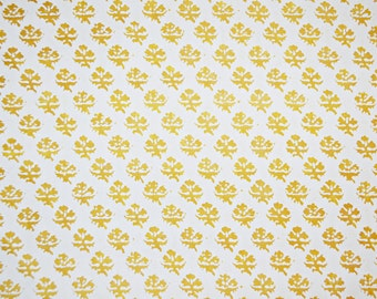 Mariano Fortuny Persiano Yellow & White Designer Fabric by the yard