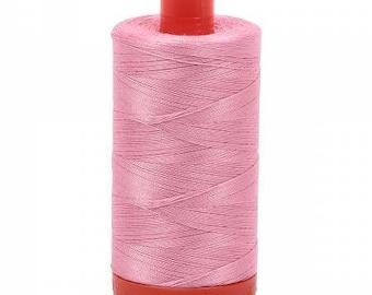 Aurifil Mako Cotton Thread Solid 50wt 1422yds Bright Pink 1050-2425