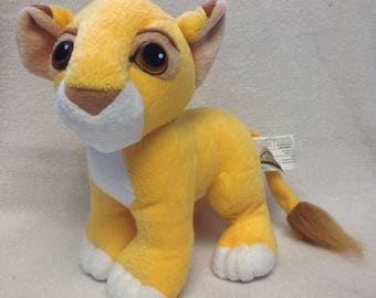 Vintage Lion King Kissing Simba Plush