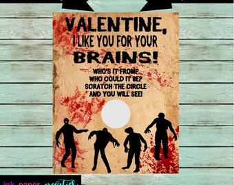 Zombie valentine  Etsy