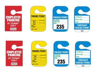 1:25 G scale model car automobile parking permit placards hang tags