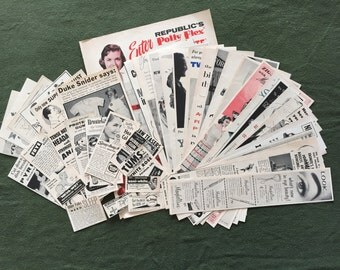 42 Assorted Ads from 1956 LIFE Magazine,Mid-Century Decoupage Material,Collage Pkg,Art & Craft Supplies