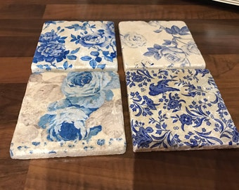 Vintage ShabbyChic Floral design Coasters