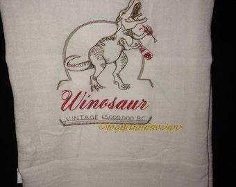 Winosaur flour sack towel