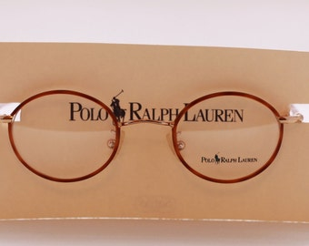 Polo Ralph Lauren 455 Small Lens Oval/Round Frame In Light Tortoiseshell Effect