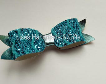 Handmade Mermaid Box Bow Hair Clip