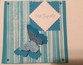 Greeting Card - Sympathy - Handmade - Measures 5.5 x 5.5