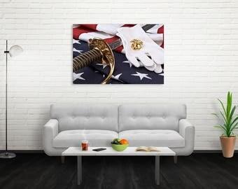 U.S. Marine Corps Canvas Wall Art Print